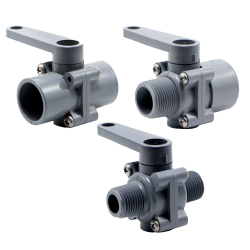 SMC 250 Series PVC Two-Way Ball Valves