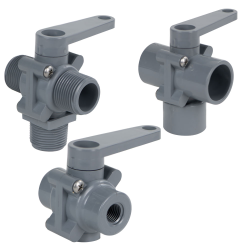 SMC 350 Series PVC 3-Way Ball Valves