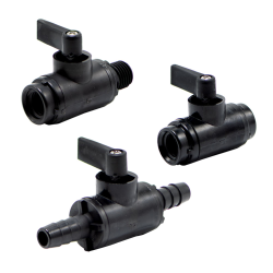 """3/8"""" OD Push-To-Connect x 3/8"""" OD Push-To-Connect Series 226 Nylon Ball Valve with Buna-N Seals"""