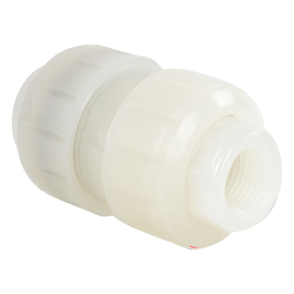 "1-1/4"" PVDF Valve with Threaded Ends"