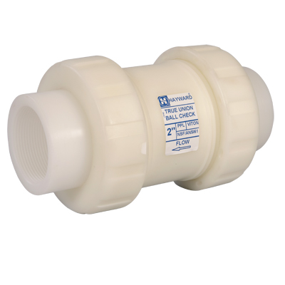 "2"" Threaded TC Series Polypropylene True Union Ball Check Valve"