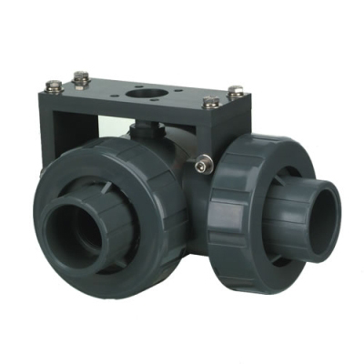 "1-1/4"" Socket/Threaded HCLA Series PVC Three Way Lateral Valve with EPDM O-rings"