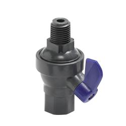"1/4"" FNPT x 1/4"" MNPT Laboratory PVC Ball Valve with Viton™ Seals"