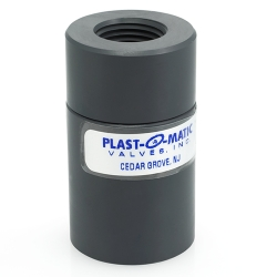 "1/2"" NPT PVC CKD Compact Diaphragm Check Valve with EPDM Disc"